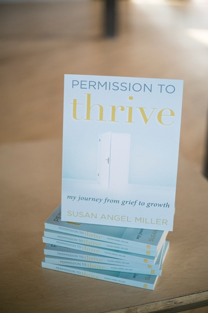 The book Permission to Thrive on display.